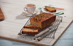 Over the years vegetables have been crossing over more and more from our dinner plates to our baked teatime treats; like this delicious courgette loaf. Loaf Cake, Quick Bread, Sugar And Spice, Morning Coffee, Dinner Plates, Yummy Treats, Lime, Tasty, Baking