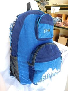 823e020690aa Patchwork Corduroy Backpack with Mountain Applique (Large)