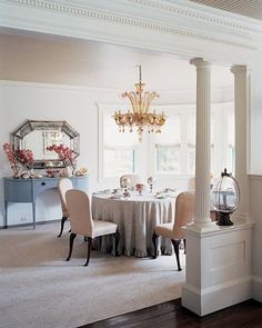 ༺༻  Crown Molding Adds Equity to Your Home Besides Beauty. IrvineHomeBlog.com ༺༻  #Irvine #RealEstate   half wall with pillars