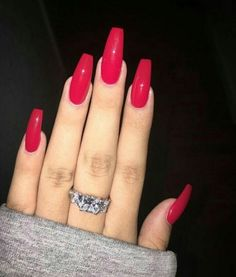 Imagem de nails, red, and accessories