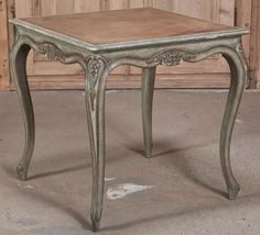 Antique Louis XV Leather Top Game Table | Antique Furniture | Inessa Stewart's Antiques