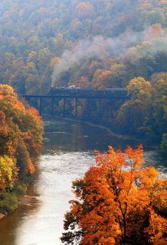 Harper's Ferry, WV - One of the most beautiful places I've visited! Harper's Ferry, WV - One of the most beautiful places I've visited! Trains, Haus Am See, Harpers Ferry, Seasons Of The Year, Train Tracks, West Virginia, Virginia Fall, Autumn Leaves, Autumn Fall