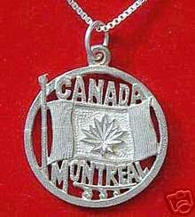Montreal Quebec Sterling silver 925 Canada flag charm Sterling Silver 925 Jewelry