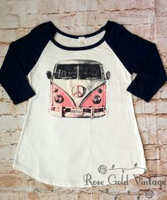 VW Bus Baseball Tee (Ladies)
