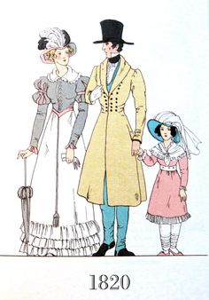 Gentleman and lady, 1820