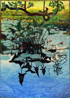 """The Edge of the marsh"", an art quilt by Gladys Perkins, on display at the Broadmoor Wildlife Sanctuary in Natick, Oct. 31, 2012."
