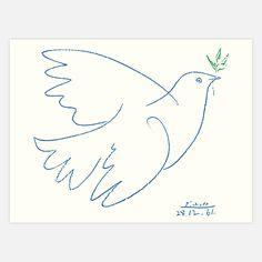 Blue Dove 25.5x20  by Nouvelles Images