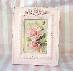 www.soshabbypink.com | Framed Catherine Klein roses | soshabbypink | Flickr