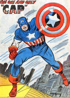 """The One and Only """"CAP"""" Marvel Comics Superheroes, Marvel Comic Books, Comic Book Heroes, Comic Books Art, Marvel Heroes, Marvel Masterworks, Bruce Timm, Jack Kirby, Comic Book Artists"""