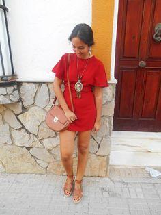 Outfit, look, summer, girl, jumpsuit, orange, boho