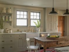 Painted country kitchen