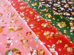 19.【楽天市場】【50cm単位】 シーチングプリント animal Christmas ~はいから横町version~:fabric bird