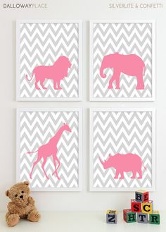 Baby Girl Nursery Art for Girls Room Decor Baby by DallowayKids, $50.00