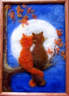 - Brenda Home Wool Needle Felting, Needle Felting Tutorials, Needle Felted Animals, Wet Felting, Felt Animals, Felt Pictures, Felt Fairy, Felt Embroidery, Wool Art