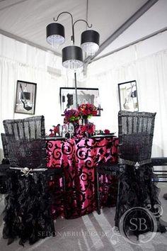 black wedding ideas