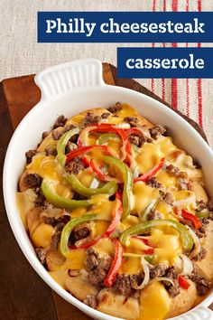 1780 best comfort food recipes images on pinterest cooking recipes philly cheesesteak casserole explore this delicious recipe for philly cheesesteak casserole on your dinner table comfort food forumfinder Gallery