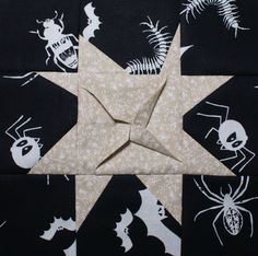 Practicing on a 3D quilt star block.