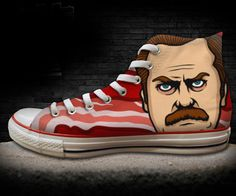 Cult TV Show Chuck Taylors - Ron F***ing Swanson!!