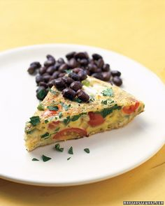 Ranchero Frittata - onions, tomatoes, jalapenos, goat cheese, serve with black beans