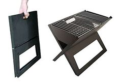 FireSense Notebook Charcoal Grill : Great for the city dweller who has to head to the park or suburbs to grill it up, the notebook grill folds flat to just 1 inch thick and takes a simple two steps to set up.