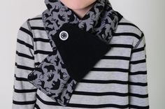 Kids adjustable winter scarf organic cotton fleece scarf by pineapplepetekids #kidsscarf