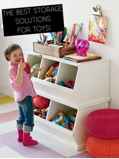 image via The Land of Nod My first question for my panel of experts is: How do you keep toys from taking over your house? & What are your favorite storage solutions for toys.? It's nothing revolutionary but boxes and bins, pretty much all over the house, have been a life-saver for us. To me, …