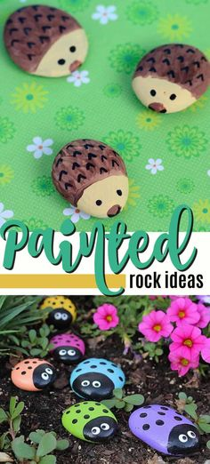 Over 20 fun painted rock projects plus tips for successfully painting on rocks and keeping your painted rocks outside. Learn what paint works best! Crafts with rocks Ideas for Painted Rocks (bonus tips too! Garden Painting, Pebble Painting, Pebble Art, Stone Painting, Diy Painting, Painted Garden Rocks, Painted Rocks Kids, Paint On Rocks, Rock Painting Patterns