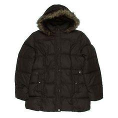 GENERATION NXT WEAR. Brown Faux Fur Trim Hooded Parka Coat.Taille 42. Ref: 5071/42
