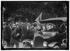 """""""Suffragists arrested for picketing the White House. Photo shows suffragist arrested in front of the White House, Washington, District of Columbia, being escorted into an auto which took her to the station house. American Life, American History, Suffrage Movement, Criminal Record, Still Picture, Photo Maps, Female Hero, National Archives, Women In History"""