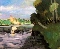 Banks of the Seine at Vétheuil Henri Matisse - circa 1920