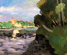 bofransson:  Banks of the Seine at Vétheuil Henri Matisse - circa 1920