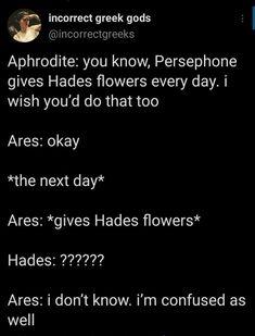 Stupid Funny Memes, Funny Posts, Funny Quotes, Hilarious, Funny Stuff, Greek Mythology Humor, Roman Mythology, Greek Memes, Oncle Rick