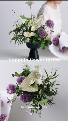 Nappula pot flower recipe Designer Matti Klenell took inspiration for Nappula from an awkwardly shap Diy Silk Flower Arrangements, Ikebana Flower Arrangement, Vase Arrangements, Flower Vases, Rose Flower Wallpaper, Flower Food, Deco Floral, Silk Flowers, Flower Designs
