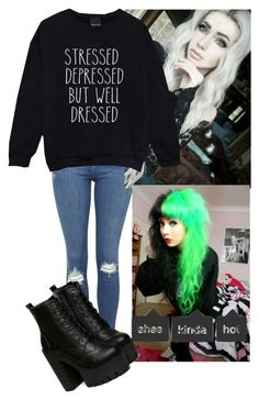 """""""she's letting me live with her-Skull"""" by we-anons ❤ liked on Polyvore featuring Topshop"""