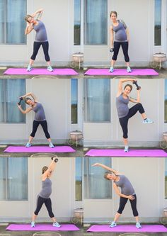 Love handles home workout for pregnant women.