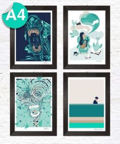 Prints available in A4 format. Just one or special deal for the entire series.