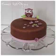 Bilderesultat for ugle kake Cake Tutorial, Birthday Cake, Pudding, Sweets, Desserts, Owl, Tutorials, Snacks, Kids