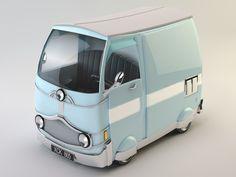 max van cartoon Prop Design, Design Model, 3d Character, Character Design, Low Poly Car, Cartoon Styles, 3d Cartoon, Microcar, Modelos 3d