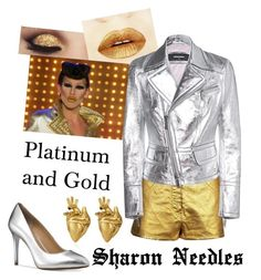 """Sharon Needles: Platinum and Gold"" by original-reimagined ❤ liked on Polyvore featuring Chanel, Dsquared2, Rupaul, Michael Kors and StrangeFruit"