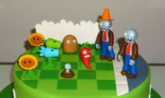 How to make Plants vs Zombies cupcakes (part / Cupcakes de Plantas . Plants Vs Zombies, Zombies Vs, Zombie Birthday Parties, Zombie Party, Halloween Party, Birthday Ideas, Zombie Cupcakes, Plantas Versus Zombies, Plant Zombie