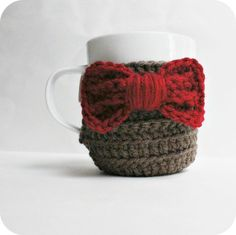 Coffee Mug Tea Cup Cozy Eleventh Doctor Who red by KnotworkShop, $16.00 - Love this so much I almost ordered it.  Until @Courtney Russell told me she could make me a black and gray one :-D Which will probably be a million times cuter.