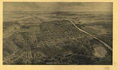 """Vintage Pictorial Map of Macon Georgia (1912)"" by Alleycatshirts"