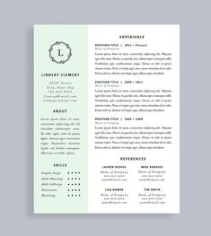 Professional Resume Template  Cv Template Resume And