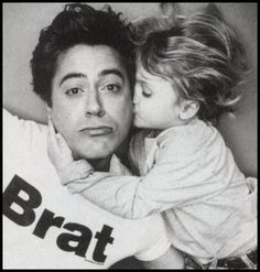 Robert Downey Jr and son Indio... possibly the cutest father/son photo I've ever seen.