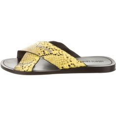Pre-owned Roberto Cavalli Embossed Logo Sandals ($245) ❤ liked on Polyvore featuring men's fashion, men's shoes, men's sandals, animal print, mens leopard print shoes, mens leather sandals, mens snake skin shoes, roberto cavalli mens shoes and mens animal print shoes