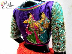 Shopzters is a South Indian wedding site Best Blouse Designs, Saree Blouse Designs, Blouse Styles, Blouse Desings, Aari Work Blouse, Trendy Sarees, Designer Blouse Patterns, Fancy, Hand Embroidery Designs