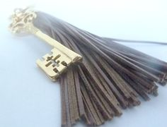 Key to your heart...Valentines gift Tassel and key fob in luggage Key fob by SueSouk, $16.75     https://www.etsy.com/listing/116105962/valentines-gift-tassel-and-key-fob-in