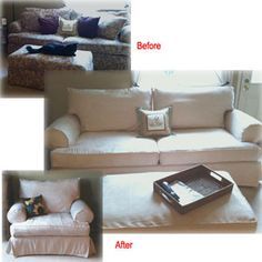 1000 Images About Slipcover Magic Before Amp Afters On