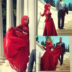 Vintage Red Muslim Wedding Dresses 2015 Spring A-Line High Neck Lace Capped Long Sleeve Bridal Gowns With Big Bows Belt Floor Length Online with $167.54/Piece on Yaostore's Store | DHgate.com