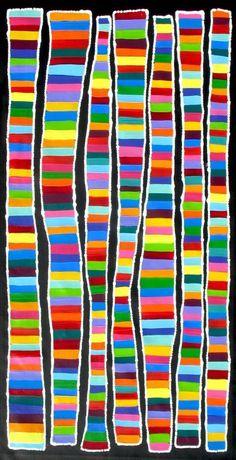 Stunning Aboriginal ART BY Raelene Stevens 59cm X 114cm   eBay